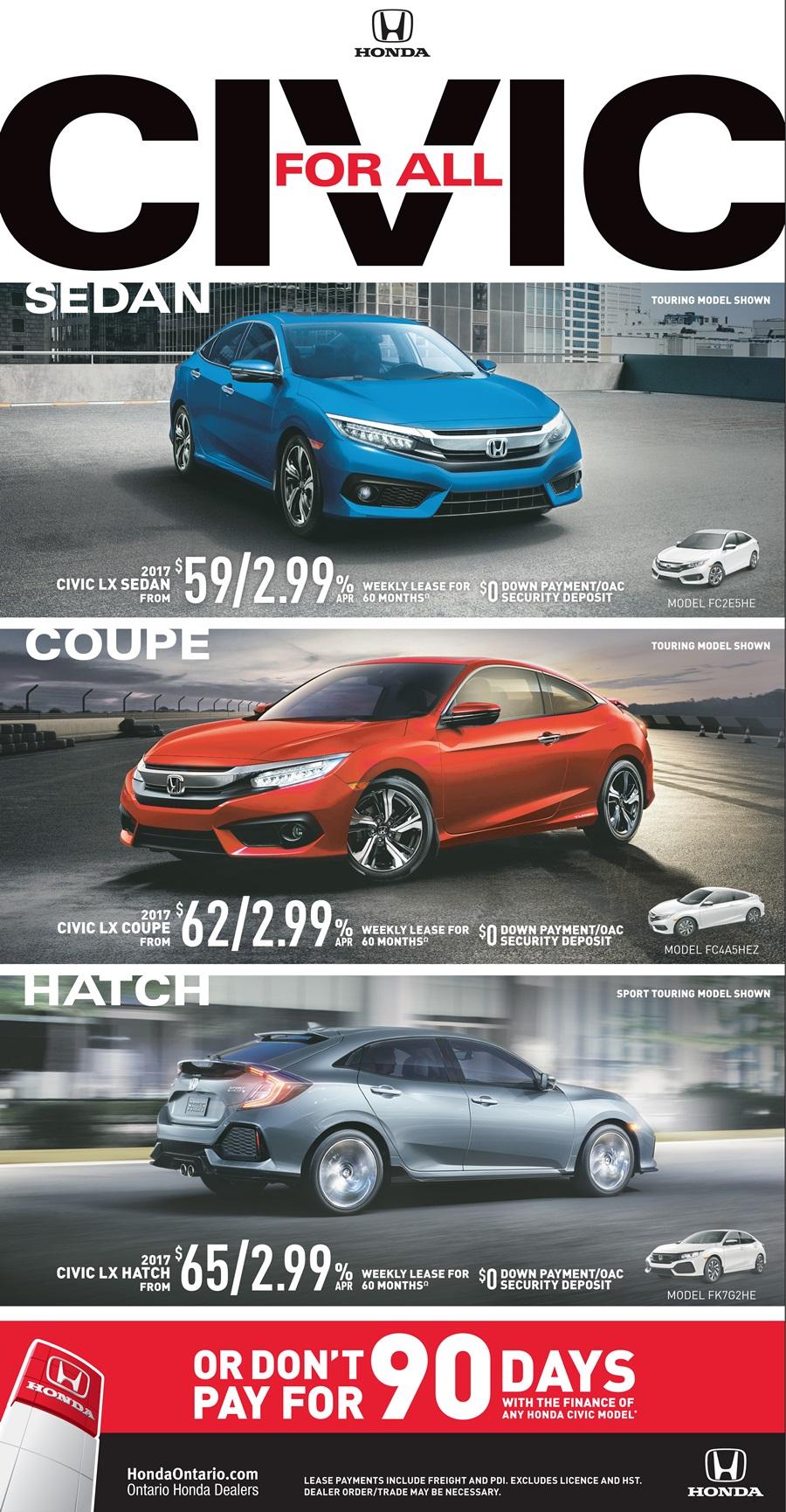 Honda New Specials